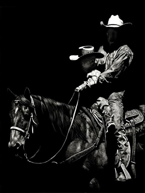 Scratchboard Rodeo II