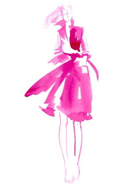 Fuchsia Street Fashion I