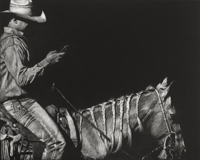 Cowboy Scratchboard II
