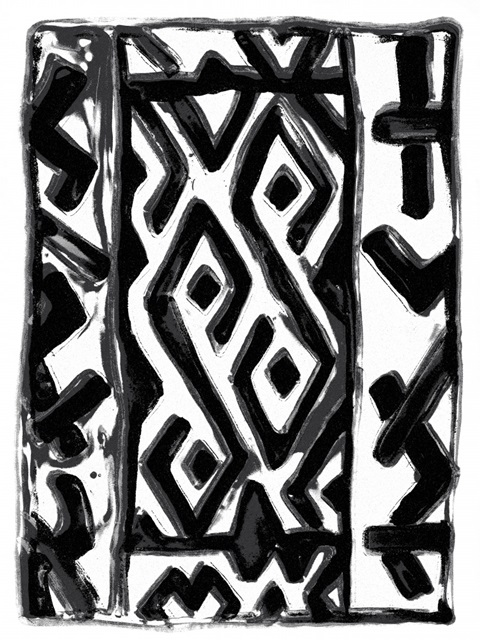 African Textile Woodcut V