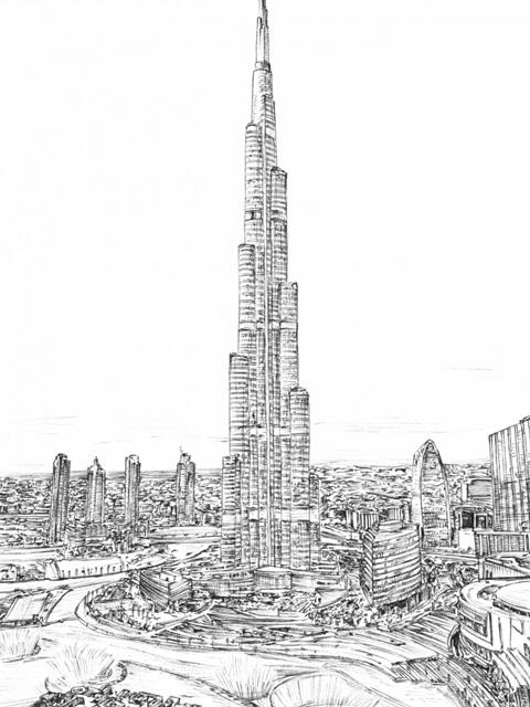 Dubai in Black and White II
