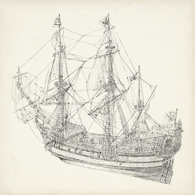 Antique Ship Sketch I