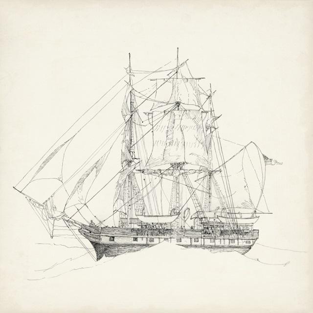 Antique Ship Sketch II