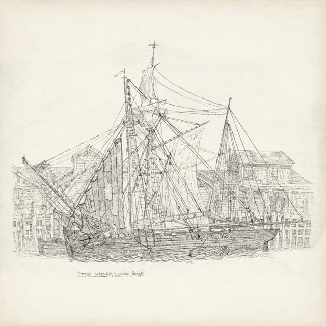 Antique Ship Sketch X