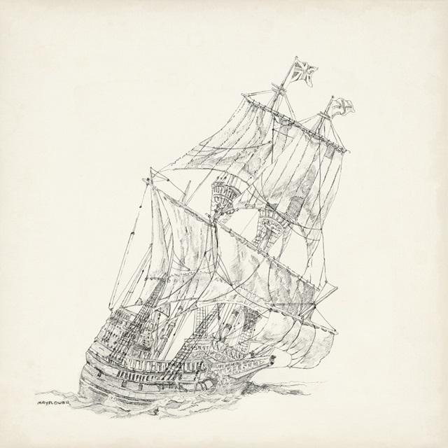 Antique Ship Sketch XI