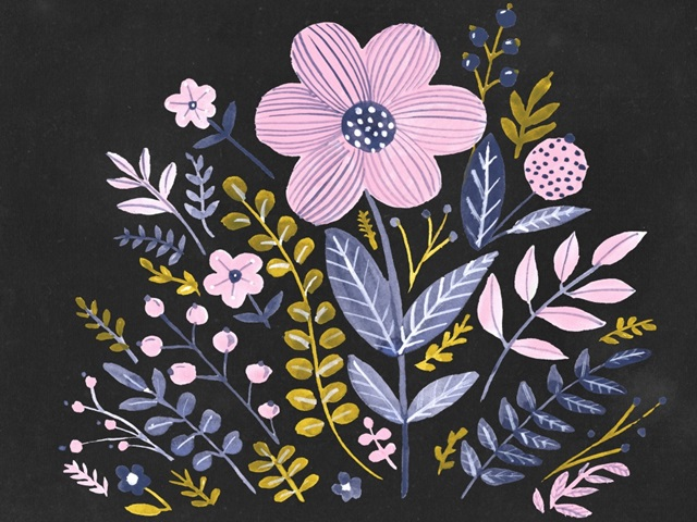 Sweet Folk Florals II