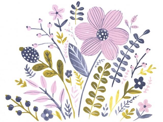 Sweet Folk Florals III