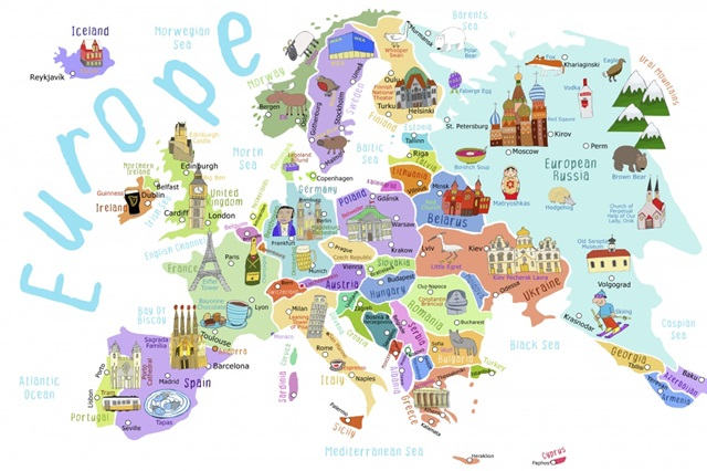Illustrated Countries of Europe