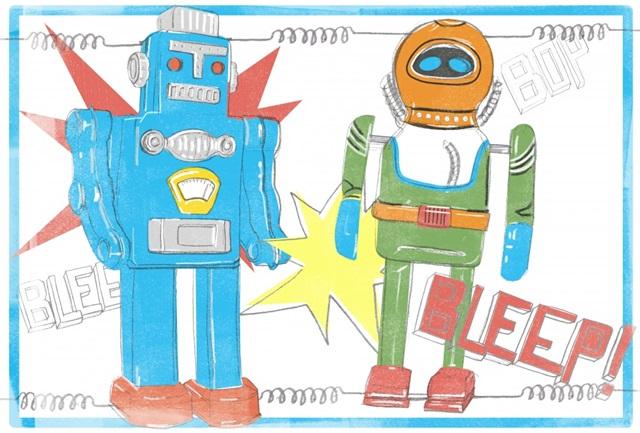 Toy Tin Robots Collection A