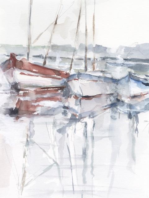 Watercolor Harbor Study II