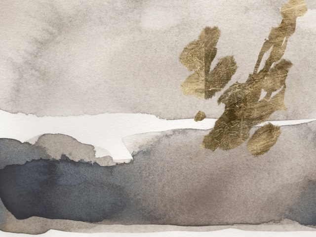 Watercolor with Gold II