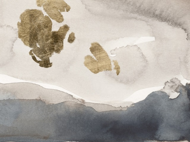 Watercolor with Gold IV