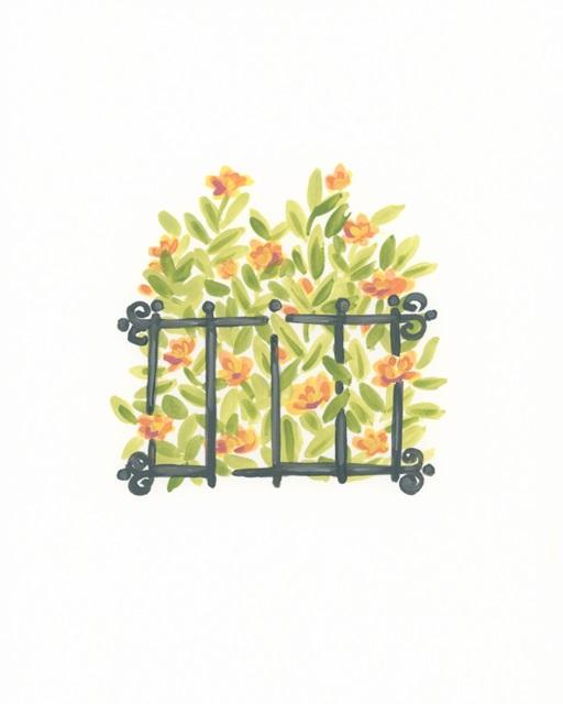 Wrought Iron Garden I